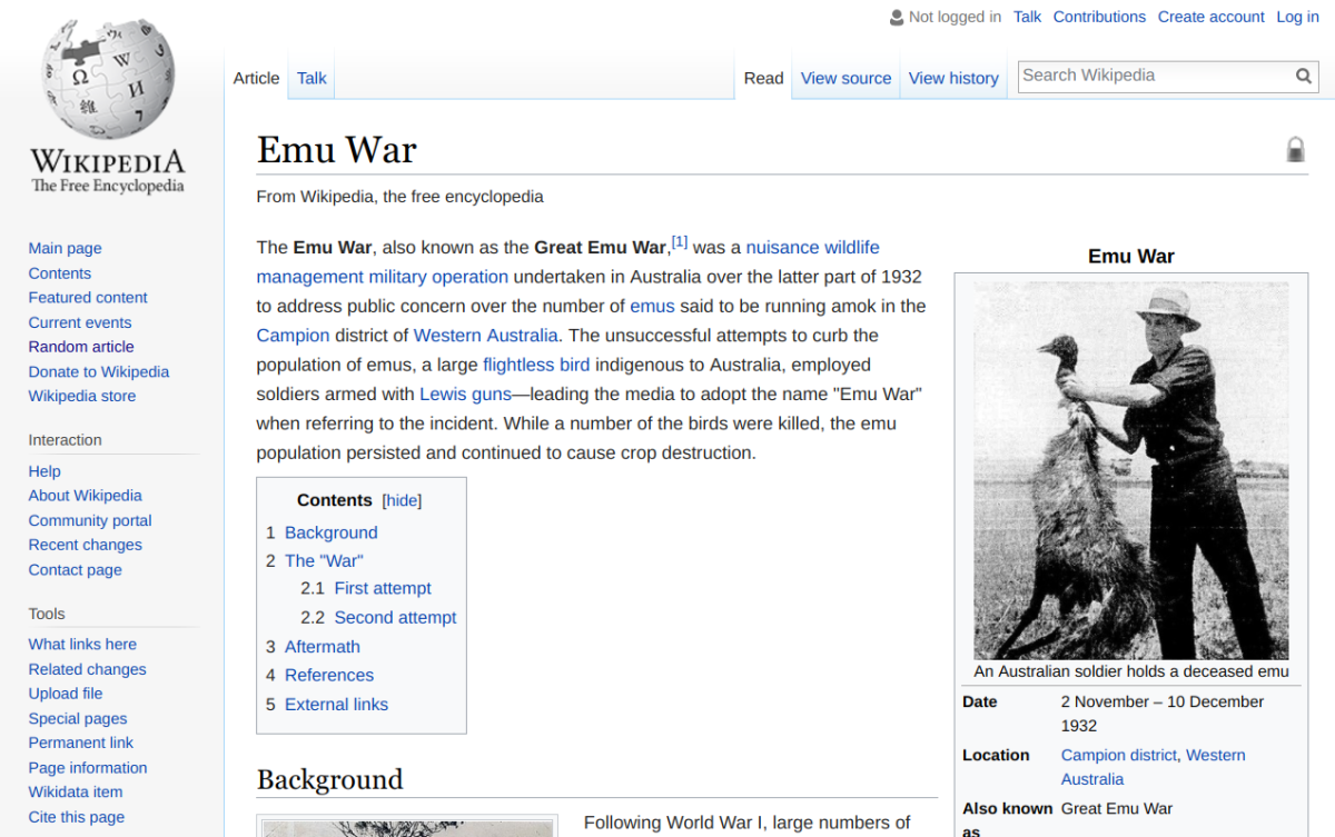 My Favorite Wikipedia Pages