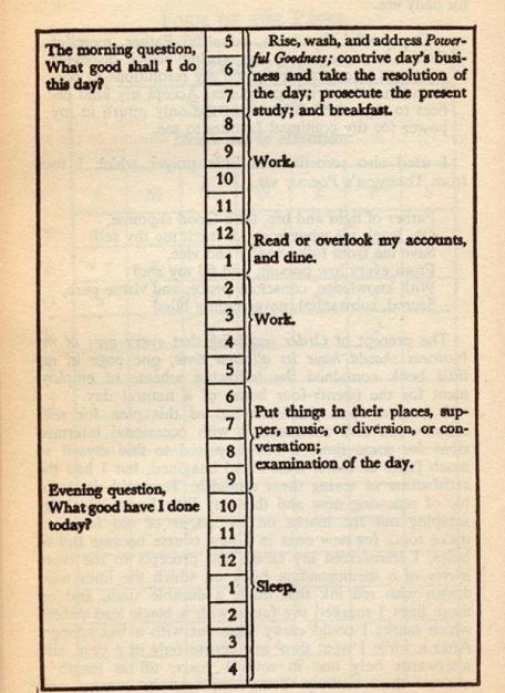 Ben-Franklin-Schedule